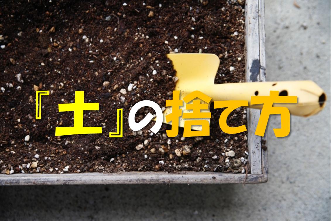 【土の捨て方】植木鉢の土の処分方法は?何ゴミ?回収してもらう?徹底解説