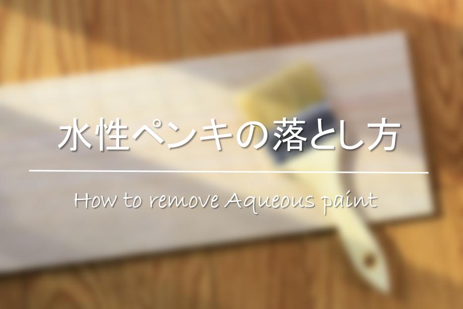 【水性ペンキの落とし方】服・手・コンクリートなどについた乾いたペンキをきれいに!