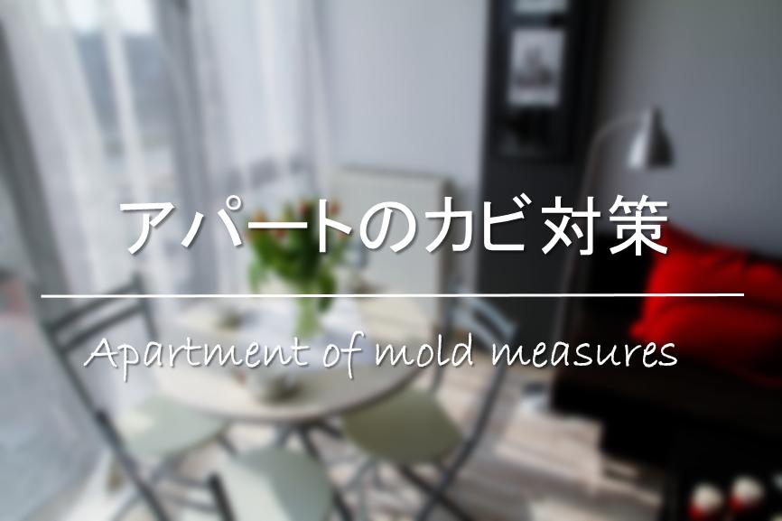 【アパートのカビ対策】原因は!?カビだらけ・カビ臭い!効果的な掃除・湿気対策を紹介