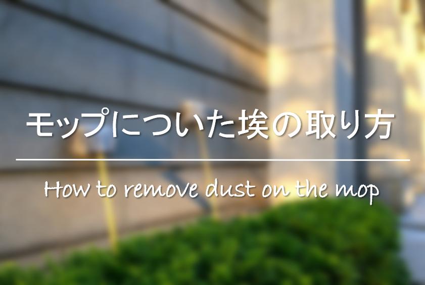 【モップについたほこり&ゴミの取り方】簡単!!おすすめの埃除去方法を紹介!