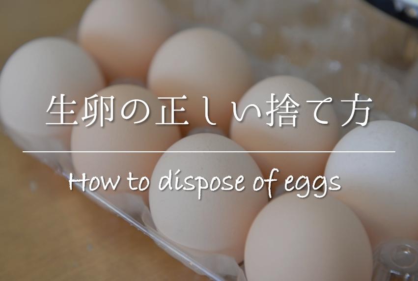 【生卵の捨て方 おすすめ5選】賞味期限切れの古いもののゴミ出し方法を紹介!