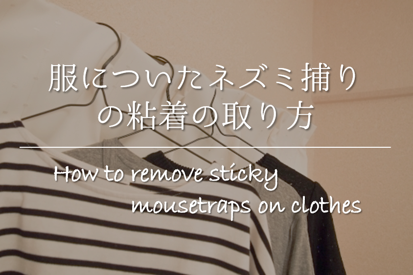 【服についたネズミ捕りの粘着(とりもち)の取り方】簡単!!ネズミ捕りのベタベタを取る方法を紹介